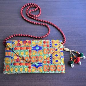 Handmade embroidered sling bag NWOT